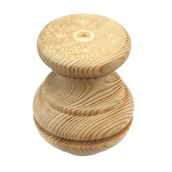 Pine Tall Moulded Bun Foot - 67*85mm