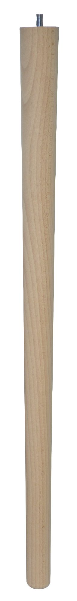 690mm Beech Tapered Leg