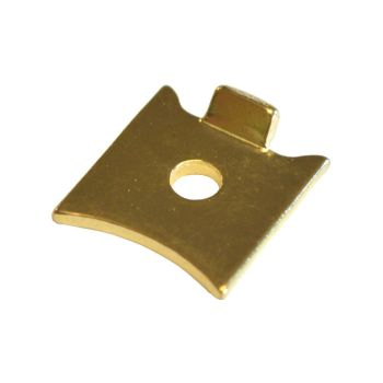 Electro-Brass Slotted Strip Shelf Support for Raised Strips - Pack of 4