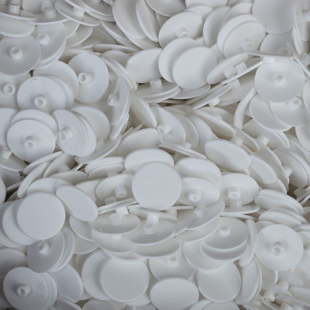 White 4mm Screw Cover - 18mm Cap - Pack of 10