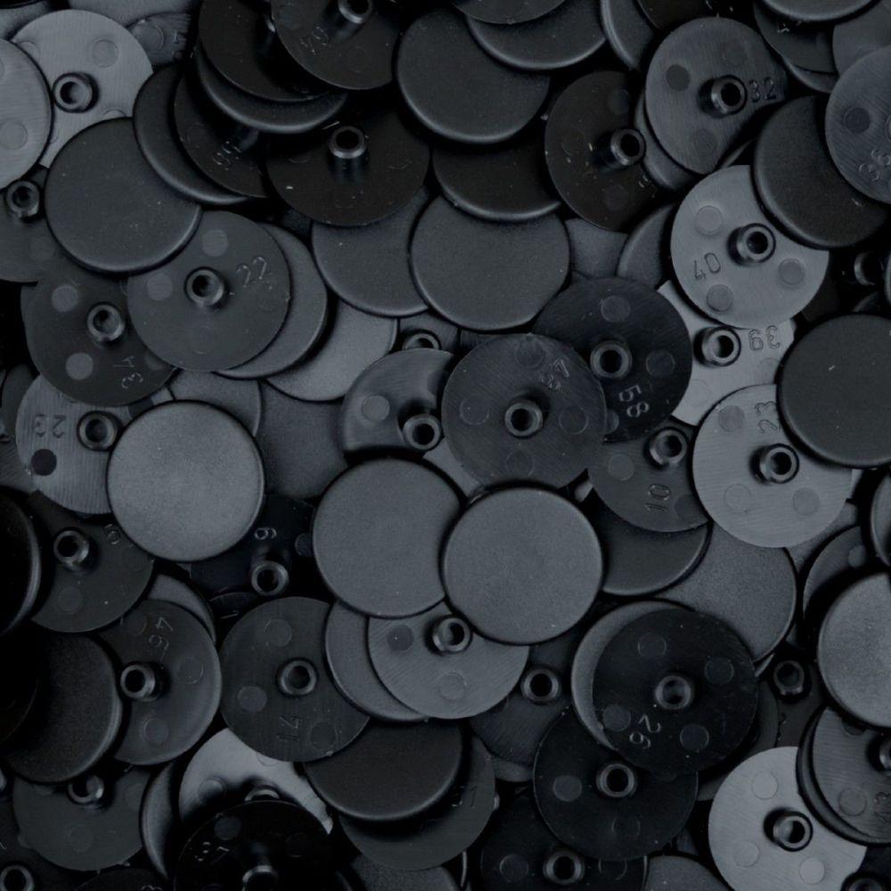 Black 4mm Screw Cover - 18mm Cap - Pack of 10