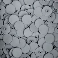 Grey 4mm Screw Cover - 18mm Cap - Pack of 10