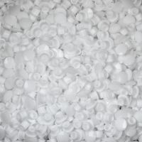 Plastic Cover Cap for 8mm Holes - White - Pack of 50