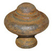 Rustic Domed Knob - 38mm Cast Iron