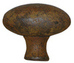 Rustic Oval Knob - 38mm Cast Iron