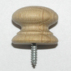 Victorian-Style Oak Knob w/ Screw Thread - 25mm