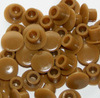 5mm Blanking Caps (Brown) - Pack of 100