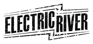 electric river logo black and white
