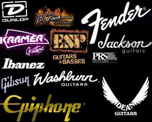 guitar-logos-black-poster no gibson