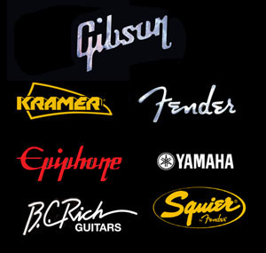 guitar logos with gibson poster