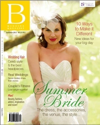 B Wedding Magazine hair and make-up by Alison Clegg, Photographer Cat Heppl