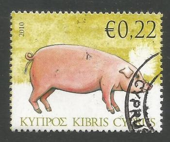 Cyprus Stamps SG 1212 2010 22c Pig - USED (k103)