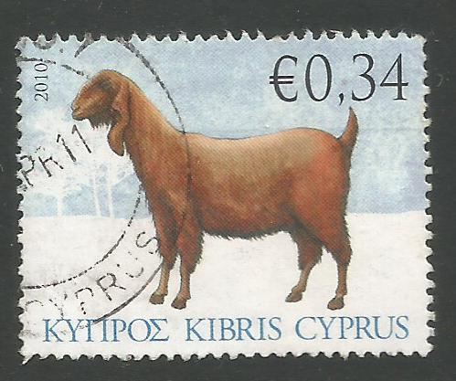 Cyprus Stamps SG 1214 2010 34c Goat - USED (k105)