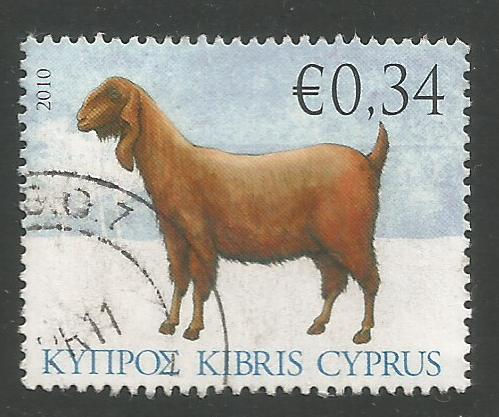 Cyprus Stamps SG 1214 2010 34c Goat - USED (k106)