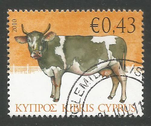Cyprus Stamps SG 1215 2010 43c Cow - USED (k111)