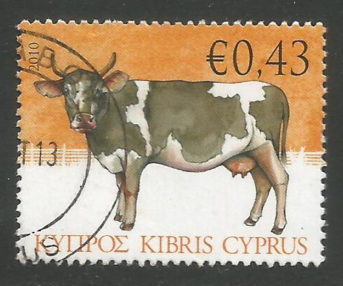 Cyprus Stamps SG 1215 2010 43c Cow - USED (k112)