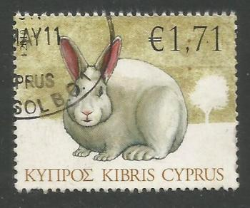 Cyprus Stamps SG 1216 2010 1.71c Rabbit - USED (k114)