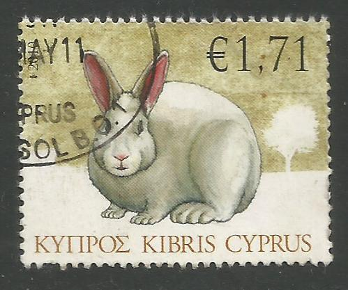 Cyprus Stamps SG 1216 2010 1.71c Rabbit - USED (k114)