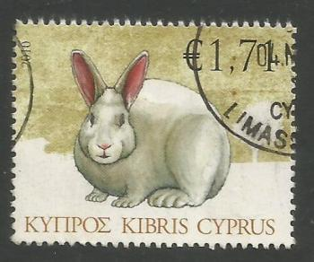 Cyprus Stamps SG 1216 2010 1.71c Rabbit - USED (k115)
