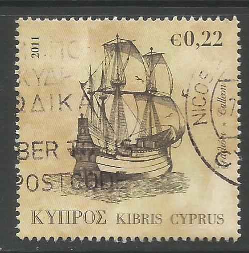 Cyprus Stamps SG 1251 2011 22c Ship - USED (k117)