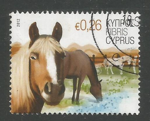 Cyprus Stamps SG 1266 2012 26c Horse - USED (k120)