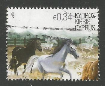 Cyprus Stamps SG 1267 2012 34c Horses - USED (k122)
