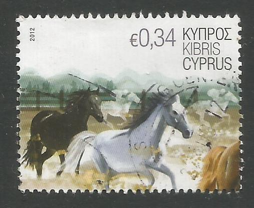Cyprus Stamps SG 1267 2012 34c Horses - USED (k123)