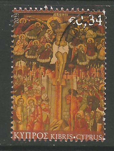 Cyprus Stamps SG 1295 2013 34c - USED (k125)