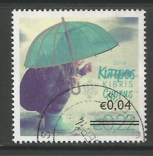Cyprus Stamps SG 1327 2014 4c/22c Overprint - USED (k144)