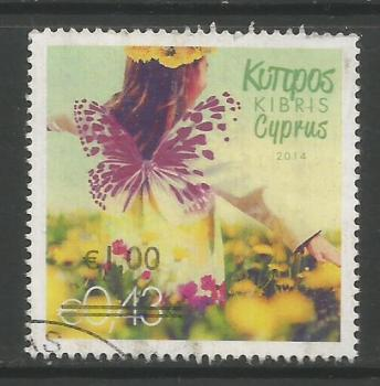 Cyprus Stamps SG 1328 2014 1.00c/43c Overprint - USED (k145)