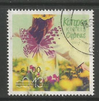 Cyprus Stamps SG 1328 2014 1.00c/43c Overprint - USED (k146)