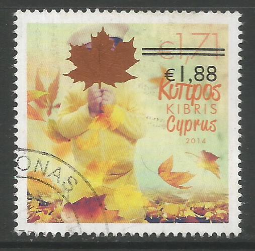 Cyprus Stamps SG 1329 2014 1.88c/1.71c Overprint - USED (K147)
