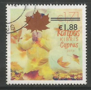Cyprus Stamps SG 1329 2014 1.88c/1.71c Overprint - USED (K148)