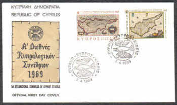 Cyprus Stamps SG 329-30 1969 1st Cypriot Studies - Official FDC