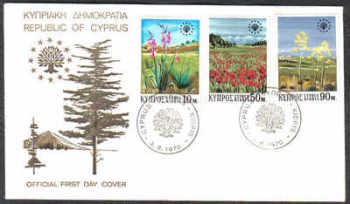 Cyprus Stamps SG 348-50 1970 Flowers - Official FDC