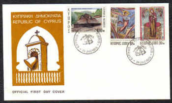 Cyprus Stamps SG 416-18 1973 Christmas - Official FDC