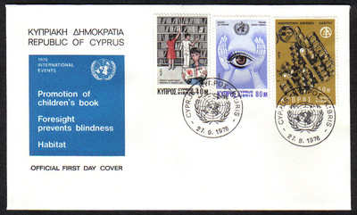 Cyprus Stamps SG 475-77 1976 Anniversaries and Events - Official FDC