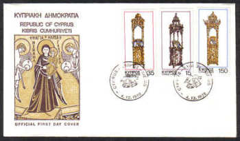 Cyprus Stamps SG 515-17 1978 Christmas - Official FDC