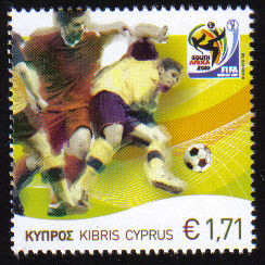 Cyprus Stamps SG 1218 2010 Fifa World Cup football South Africa - MINT