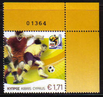 Cyprus Stamps SG 1218 2010 Fifa World Cup football South Africa - MINT (c412)