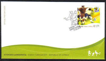 Cyprus Stamps SG 1218 2010 FIFA World Cup Football South Africa - Official FDC