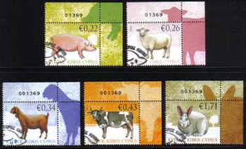 Cyprus Stamps SG 1212-16 2010 Domestic Animals - CTO USED (c403)