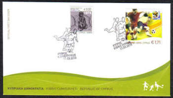 Cyprus Stamps SG 1218 2010 Fifa World Cup Football - Unofficial FDC (c446)