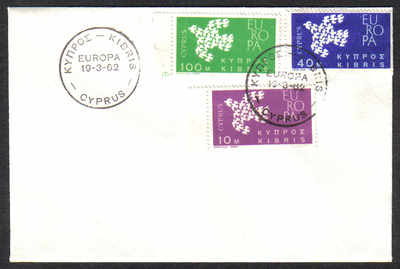 Cyprus Stamps SG 206-08 1962 Europa Doves - Unofficial FDC (c451)