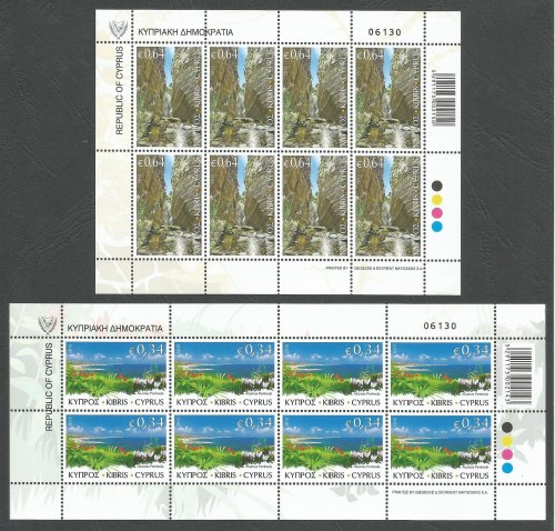Cyprus Stamps SG 2015 (g) The Beauty of Akamas - Full Sheets MINT