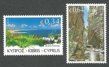 Cyprus Stamps SG 1371-72 2015 The Beauty of Akamas - MINT