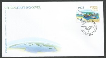 Cyprus Stamps SG 2015 (h) Euromed, Boats of the Mediterranean - Official FDC