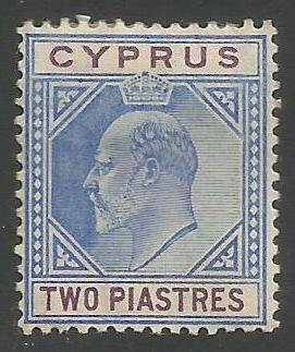 Cyprus Stamps SG 065 1904 Two Piastres - MH (k174)