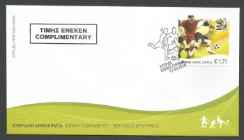 Cyprus Stamps SG 1218 2010 FIFA World Cup Football South Africa - (Complimentary) Official FDC (k177)