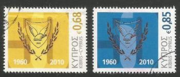 Cyprus Stamps SG 1210-11 2010 50th Anniversary of the Republic of Cyprus - USED (k186)